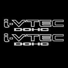 [#170]2x Chrome Metallic i-VTEC DOHC Decal Sticker Emblem Honda Acura ivtec