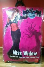 Ladies Halloween Miss Widow Fancy Dress Costume m