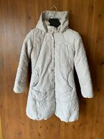 ELLE SPORT PUFFER WINTER COAT Grey Jacket Quilted Hooded UK 6 / 34 - VGC