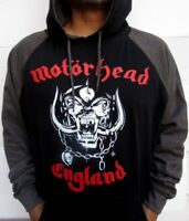 MOTORHEAD ENGLAND WAR PIG TWO TONES HOODIES PUNK ROCK BLACK  MEN'S SIZES