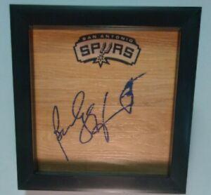 BECKY HAMMON San Antonio Spurs WNBA Signed + Framed Floor SILVER STARS
