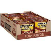 24 Pack MARUCHAN RAMEN NOODLE SOUP PORK FLAVOR 3 OZ