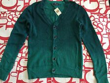 Guess Two Tones Button Plaited Sweater Size M