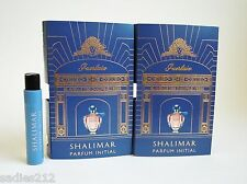 GUERLAIN SHALIMAR PARFUM INITIAL EDP Women 1ml .03oz Travel Spray Sample Vial x2