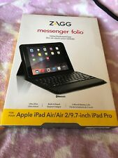 ZAGG Messanger Folio Keyboard case New For Apple iphad Air/Air 2/9.7 Inch Ipad