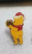 Disney Pin Winnie the Pooh with Gift Enamel Pin Pooh Christmas Series Vntg