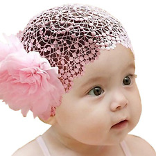 Miugle Baby Wide Lace Headbands Turban Head Wraps Girls Hair Band Big Hair Bows