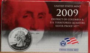 Uncirculated 2009 U.S. District Of Columbia & U.S Territories Silver Proof Set