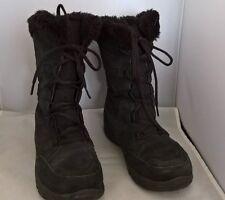 Columbia Women's ICE MAIDEN Lace Waterproof Black Winter Boots Women's sz 7.5M/B