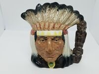 Vintage Royal Doulton Large Character Toby Jug North American Indian D.6611 Rare