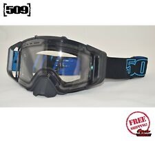 509 SINISTER X6 SNOWMOBILE GOGGLE BLACK ICE PHOTOCHROMATIC CLEAR TINT NEW