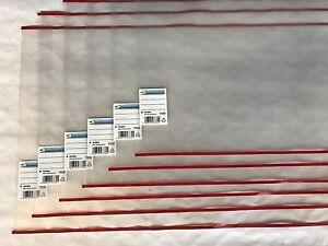 HERMA REX Buchschoner Buchhülle roter Rand Buchumschläge Buchumschlag 17,5 - 33