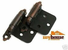 Cabinet Door Flush Hinges Brushed Oil Rubbed Bronze Hinge 25 pair (50 pieces)