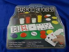 Cardinal's Professional Texas Hold'em Poker Set Metal Case New Chips Cards game