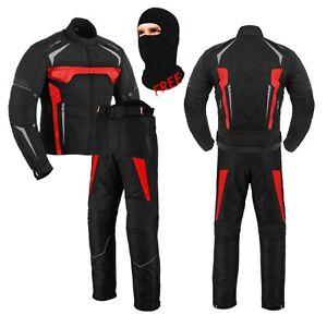 Men Motorcycle Motorbike Racing Suit Waterproof Bike Riding Jacket Trouser Armor