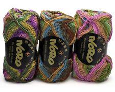 3 x 100g. Multicoloured Noro Silk Garden Sock Wool - Colour S258