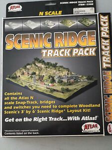 N Scale ATLAS Scenic Ridge Track Pack Partial Box