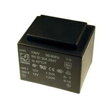 Hahn Print Trafo 230V Printtrafo 2,6VA 2x 12V Netztrafo Transformator 098314