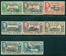 SOUTH SHETLANDS 5L1-8 SG#D1-8 MH 1944 Defin set of 8 Cat$28