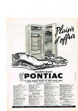 PUBLICITE ADVERTISING   1959    PONTIAC    hermétiques réfrgérateur