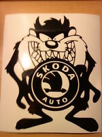 fun skoda logo vinyl car sticker graphics decals racing funny novelty 7x6 inches