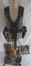 Camo Tactical Assault VEST Rig Army Military Ammo Pouch 20 pocket 10 Mollies
