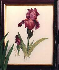 Janet Powers Originals IRIS SHEER ECSTASY Cross Stitch Chart/Leaflet ~ flowers