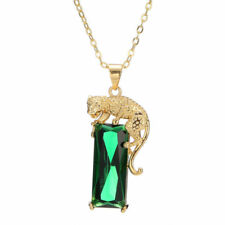 Luxury Leopard Imitation Pearl Silver Gold Plated Chain Necklaces Pendant Unisex