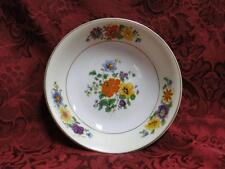 "Thun Thu71 Floral Rim & Center, Cream Band: Fruit Bowl (s), 5 3/8"" x 1 1/4"""