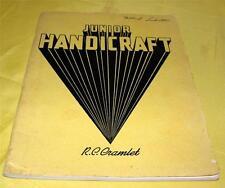 VTG 1937 WOODWORKING DIY PATTERN BOOK Junior Handicraft, W 61 ART DECO PROJECTS