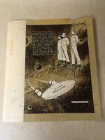 Star Trek ART back cover Enterprise 1975 Spock Kirk BOOK RECORD POWER