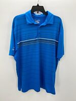 Under Armour Golf Polo Shirt Mens XL Blue Striped Short Sleeve Golf Shirts Polo