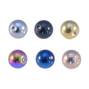 Ricambio Piercing Cerchio con Pallina 316L Sugical Acciaio Inox Varuous Colori
