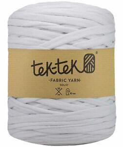 T-SHIRT YARN White New Large Ball Cotton Knit Crochet Weave 130m