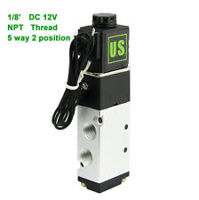 "U.S.Solid® 1/8"" NPT 5 Way 2 Position Pneumatic Electric Solenoid Valve DC 12 V"