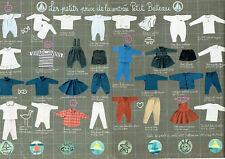 Publicité Advertising 099  1995  vetements enfants Petit Bateau ( 2 pages)