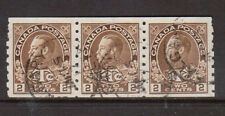 Canada #MR7a Very Fine Used Coil Strip Of Three With CDS Cancels