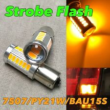 STROBE FLASH Rear Turn Signal Bulb BAU15S 7507 PY21W 33 SMD LED Amber W1 JAE