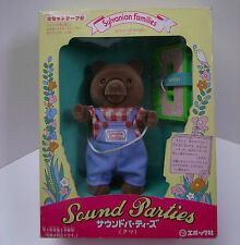 Sylvanian Families vintage Sound Parties Bear Epoch toy Japanese casette doll