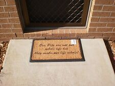 """Our Pets......"" Natural Coir on Rubber Backed Door Mat"