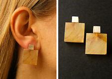 Amber Earrings HONEY  Silver 925er  Unique