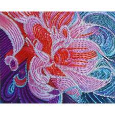 5D DIY Full Special Shaped Diamond Painting Flowers Cross Stitch Craft Kit Decor