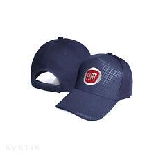 FIAT CARBONIO Blu Marino Cappello Ricamato Cappellino Baseball Cap Uomo Donna