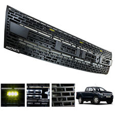 Fit Ford Ranger T6 12-15 Front Grill Abs Led Black Wildtrak Xl Xlt Pf Pickup Ute