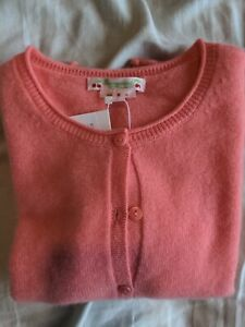 bonpoint Girls Size 8 Pink/Orange Cardigan New With Tags