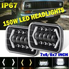 "2x 5x7"" 7x6"" Inch LED Headlights Sealed Beam DRL for Toyota Nissan Truck Pickup"