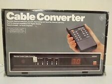 Vintage Tv Cable Box 1980s Pay Television Catv Converter w/ Remote Gemini Ad6000