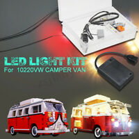 ONLY DIY USB Interface LED Light Lighting Kit For LEGO 10220 VW CAMPER VAN  e