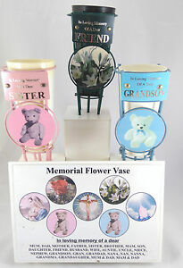 Grave Vase plaque Insert MIX & MATCH - YOU CHOOSE Memorial New