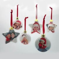 Christmas Photo Frame Charms Tree Picture Hanger Decoration Ornaments Xmas Gift